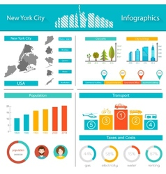 Infographics new york city vector