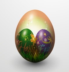 Realistic painted easter egg vector