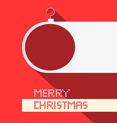Paper christmas ball - merry christmas title on vector