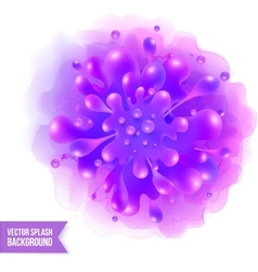 Purple paint splash on watercolor vector