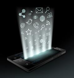 social media Stock vector image