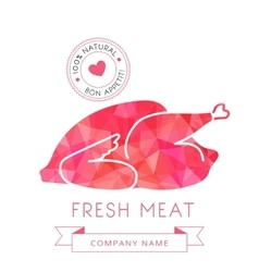 Image carcass chicken or turkey meat of poultry vector