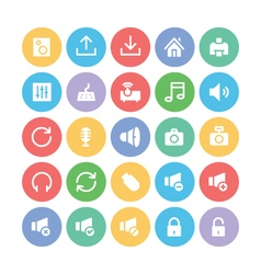 Multimedia colored icons 2 vector