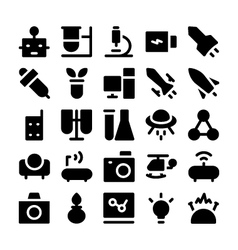 Science icons 4 vector