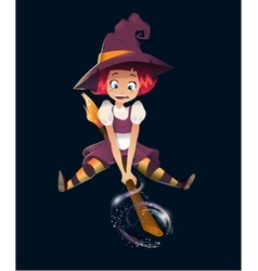 a Halloween Witch vector image