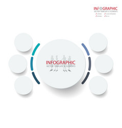 Abstract element infographics 6 option design for vector