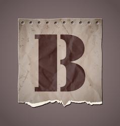 Alphabet in retro style vector image vector image