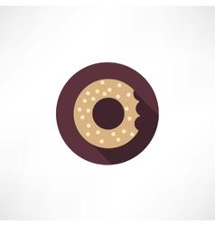 bagel icon vector image vector image