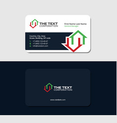 Business card for a real estate auctioneer vector