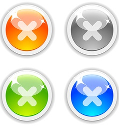 Cancel buttons vector image