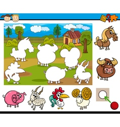 cartoon educational task for kids vector image vector image