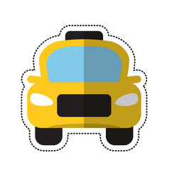 Cartoon taxi car public vehicule vector