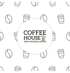 coffee pattern or seamless background design vector image vector image