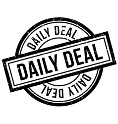 Daily Deal rubber stamp vector image