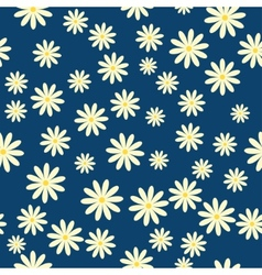daisies floral pattern vector image vector image
