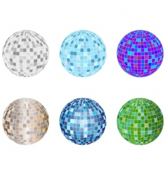 disco spheres vector image