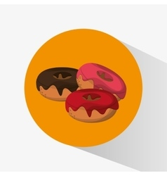 Donuts of fast food concept vector