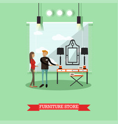 Furniture store concept in vector