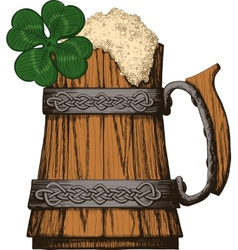 Irish beer mug color vector