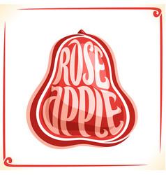 Logo for rose apple vector