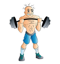 male weightlifter vector image