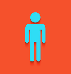 Man sign whitish icon on vector