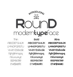 modern minimalistic sans serif font round vector image vector image