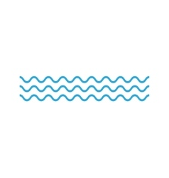Ocean Waves icon on white background vector image