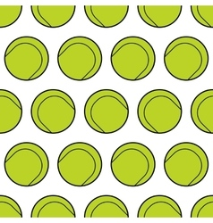 Seamless pattern with tennis balls background vector