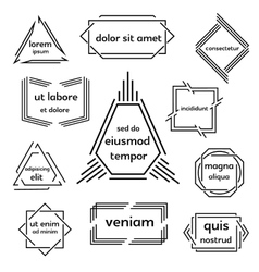 Set of geometric emblem vector image vector image