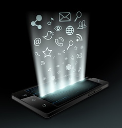 social media Stock vector image vector image