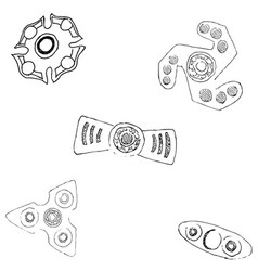 Spinners of different shapes vector