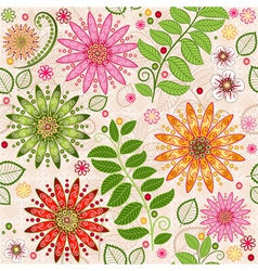 Spring colorful seamless floral pattern vector image vector image