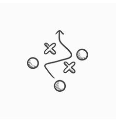 Tactical plan sketch icon vector