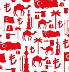Turkey symbols seamless pattern Turkish national vector image vector image