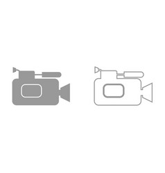 Videocamera it is black icon vector