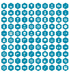 100 tension icons sapphirine violet vector