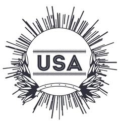 Label frame of usa design vector
