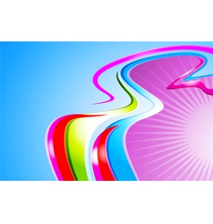 Colorful curve abstract background vector