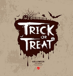 Halloween trick or treat message vector