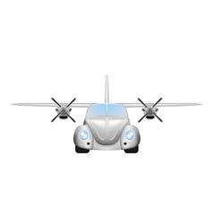 Retro flying car vector image