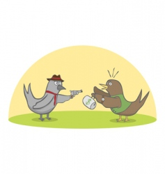 birds robbery vector image