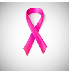 Pink ribbon loop vector