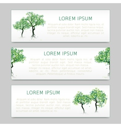 Green abstract trees vector