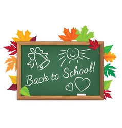 Board back to school vector image