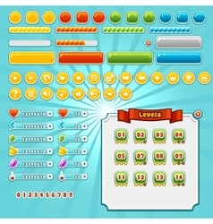 Game interface elements vector