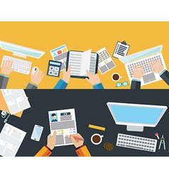 Set of flat design concepts for business finance vector image