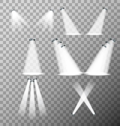 Set of stage lights vector