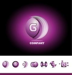 Letter g sphere 3d logo vector