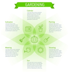 Gardening infographic elements vector